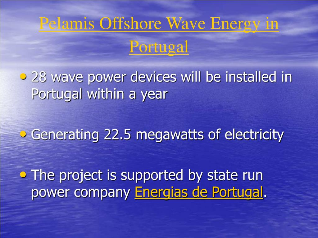 Pelamis Offshore Wave Energy in Portugal