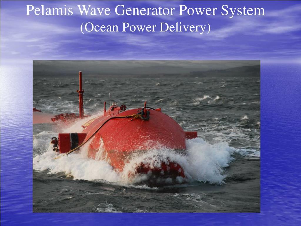 Pelamis Wave Generator Power System