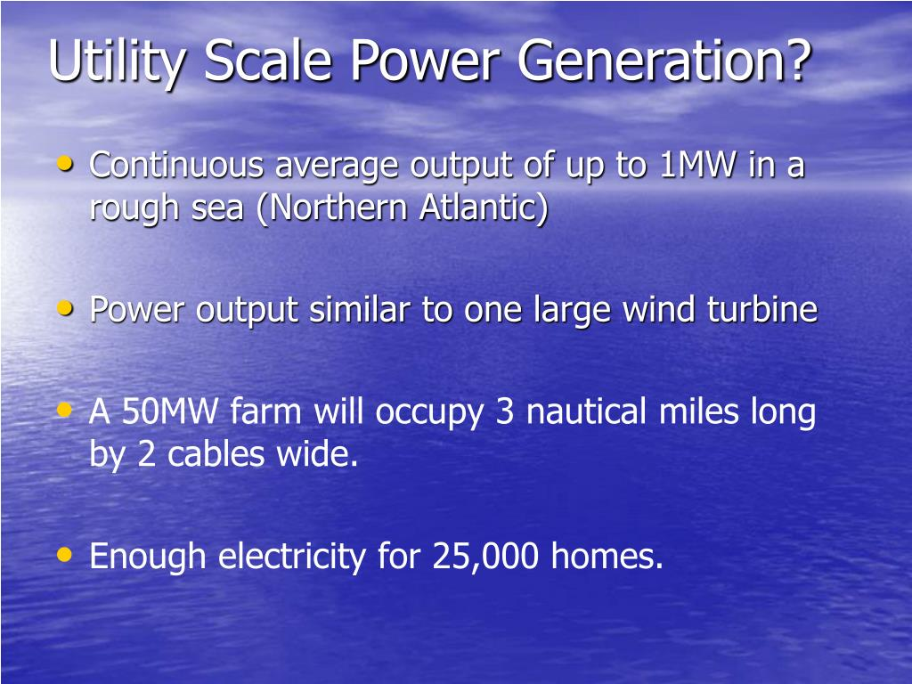 Utility Scale Power Generation?