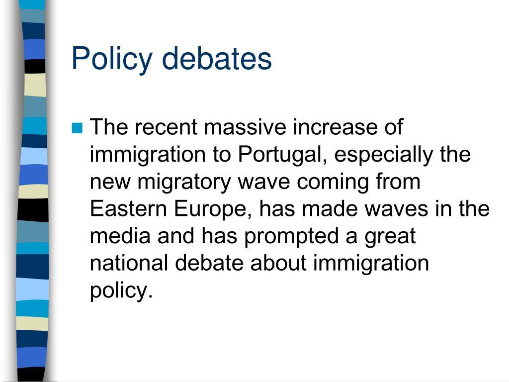 Policy debates
