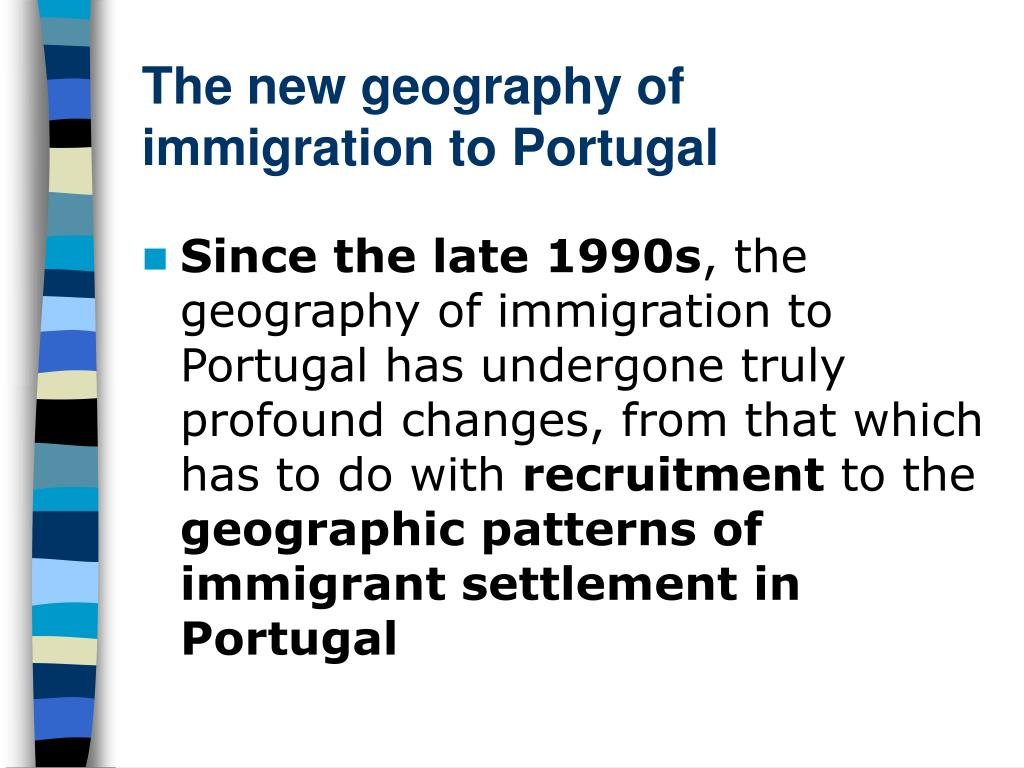 The new geography of immigration to Portugal