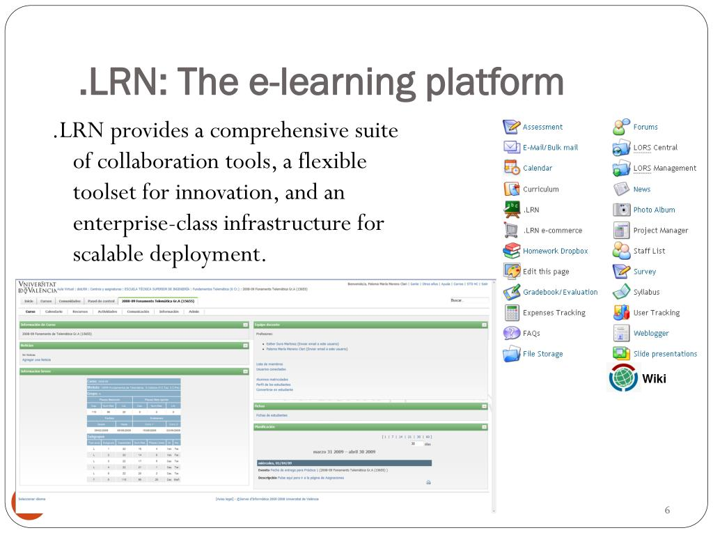 .LRN: The e-learning platform