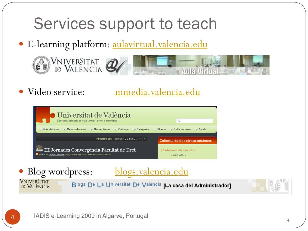 Services support to teach