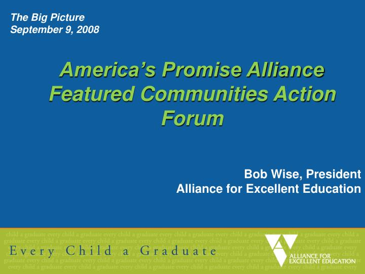 America s promise alliance featured communities action forum