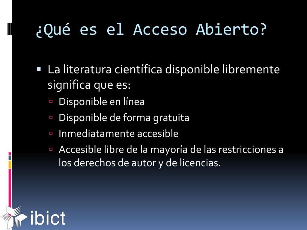 ¿Qué es el Acceso Abierto?