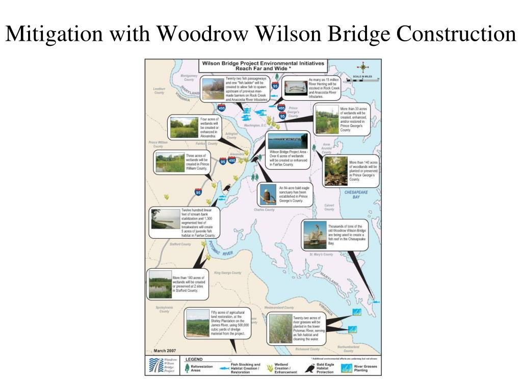 Mitigation with Woodrow Wilson Bridge Construction