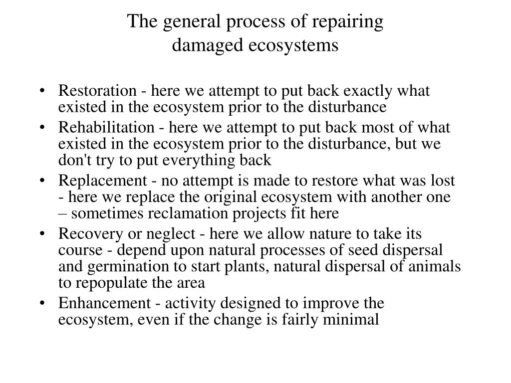 The general process of repairing