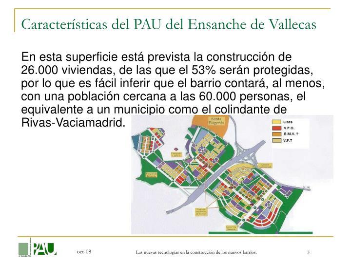 Características del PAU del Ensanche de Vallecas