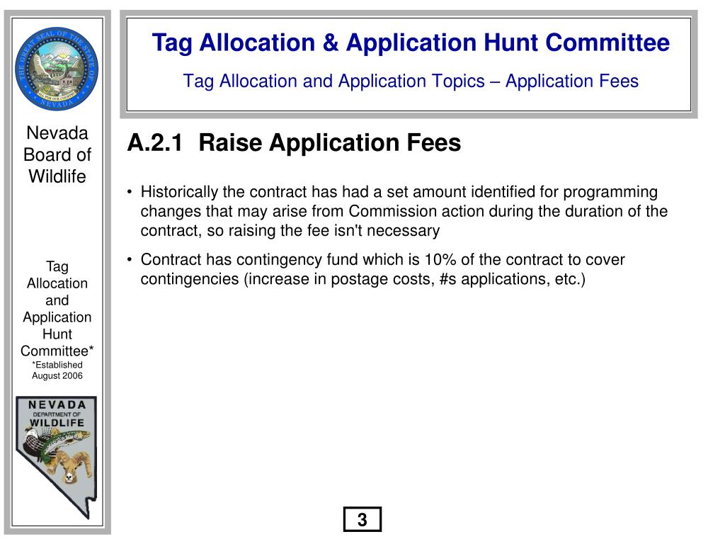 A.2.1	  Raise Application Fees