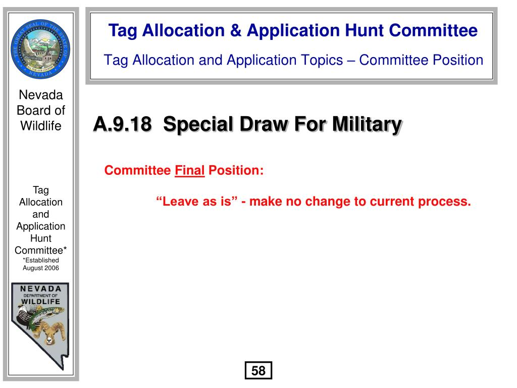 A.9.18  Special Draw For Military