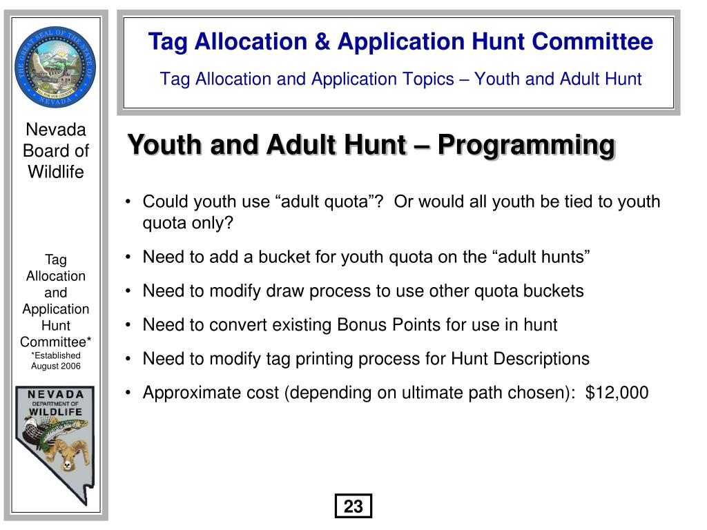 Youth and Adult Hunt – Programming
