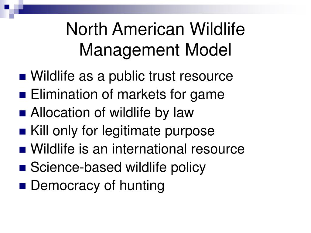 North American Wildlife Management Model