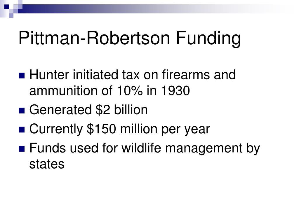 Pittman-Robertson Funding