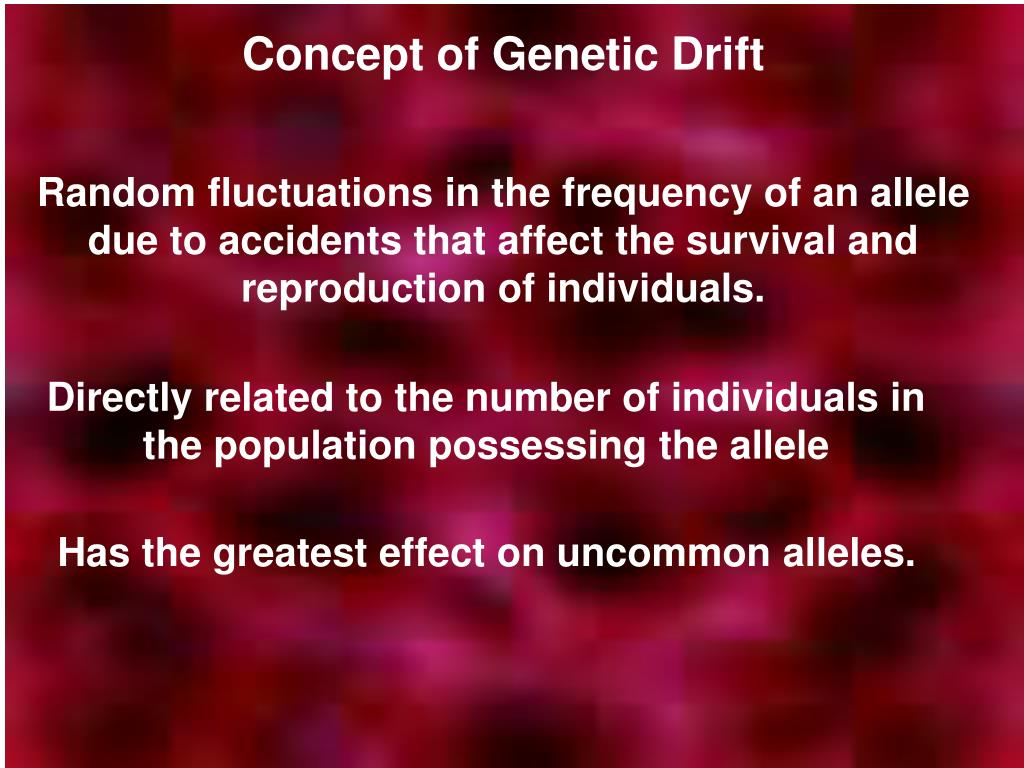 Concept of Genetic Drift
