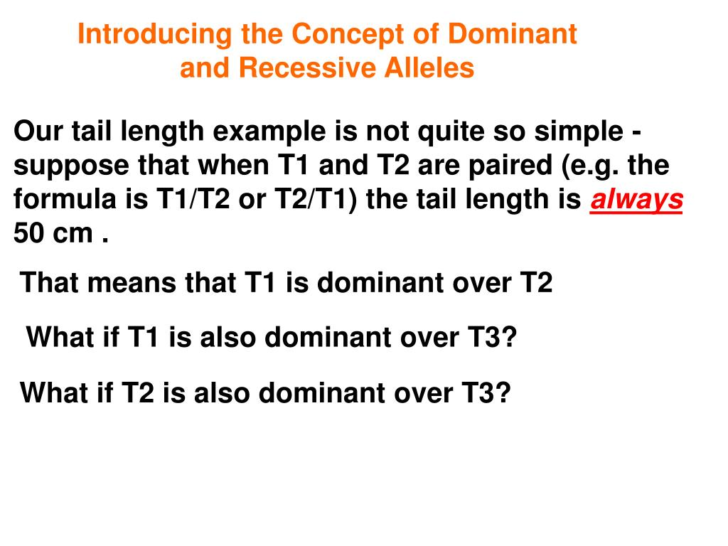 Introducing the Concept of Dominant and Recessive Alleles