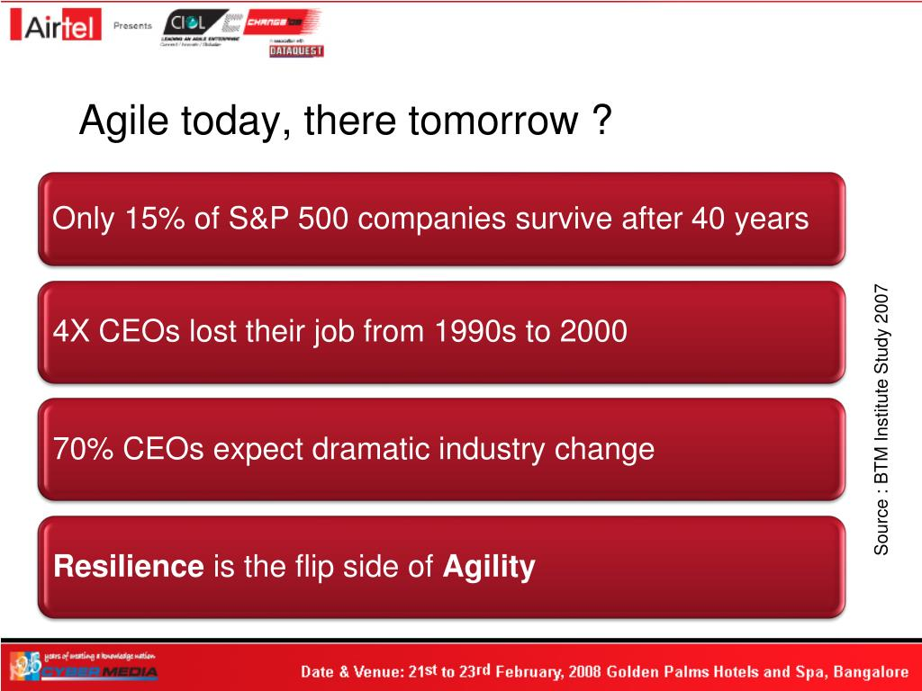 Agile today, there tomorrow ?