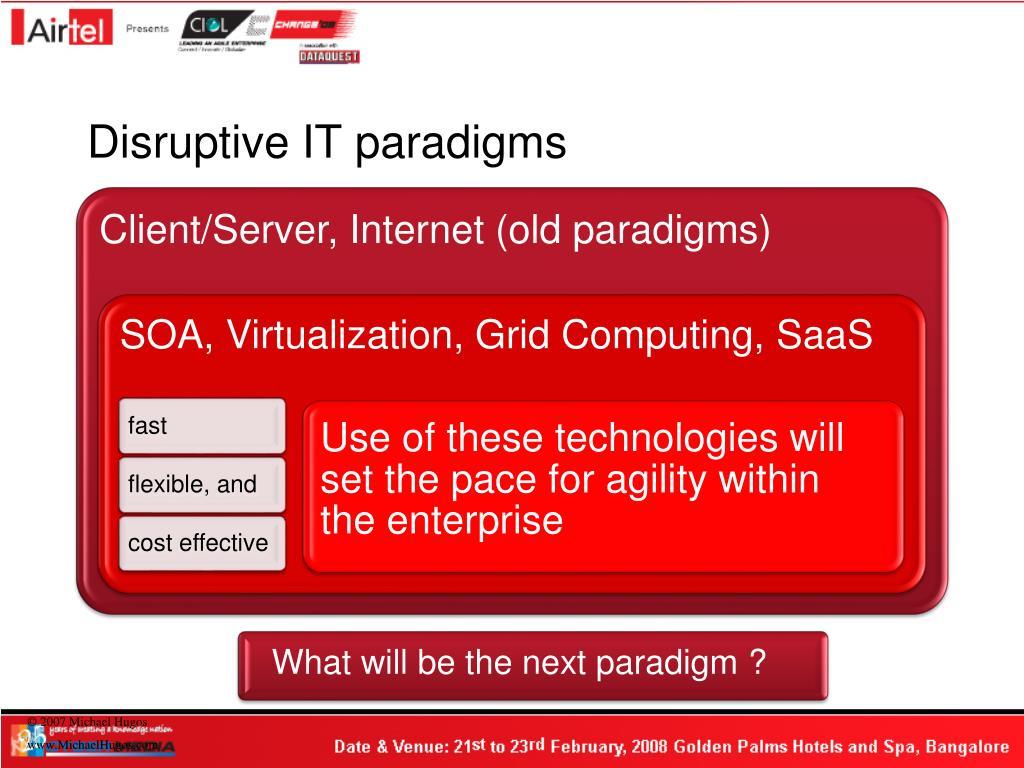 Disruptive IT paradigms