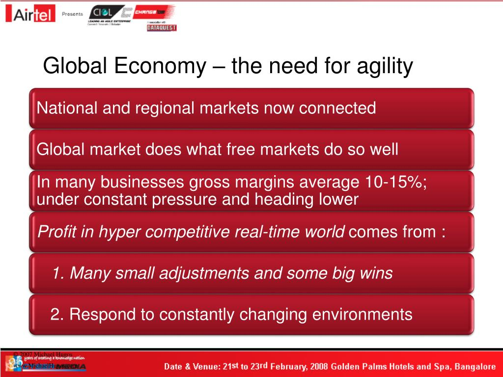 Global Economy – the need for agility