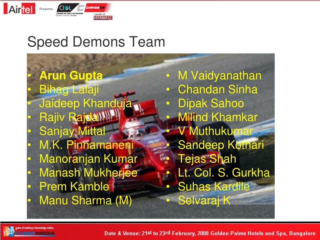 Speed Demons Team