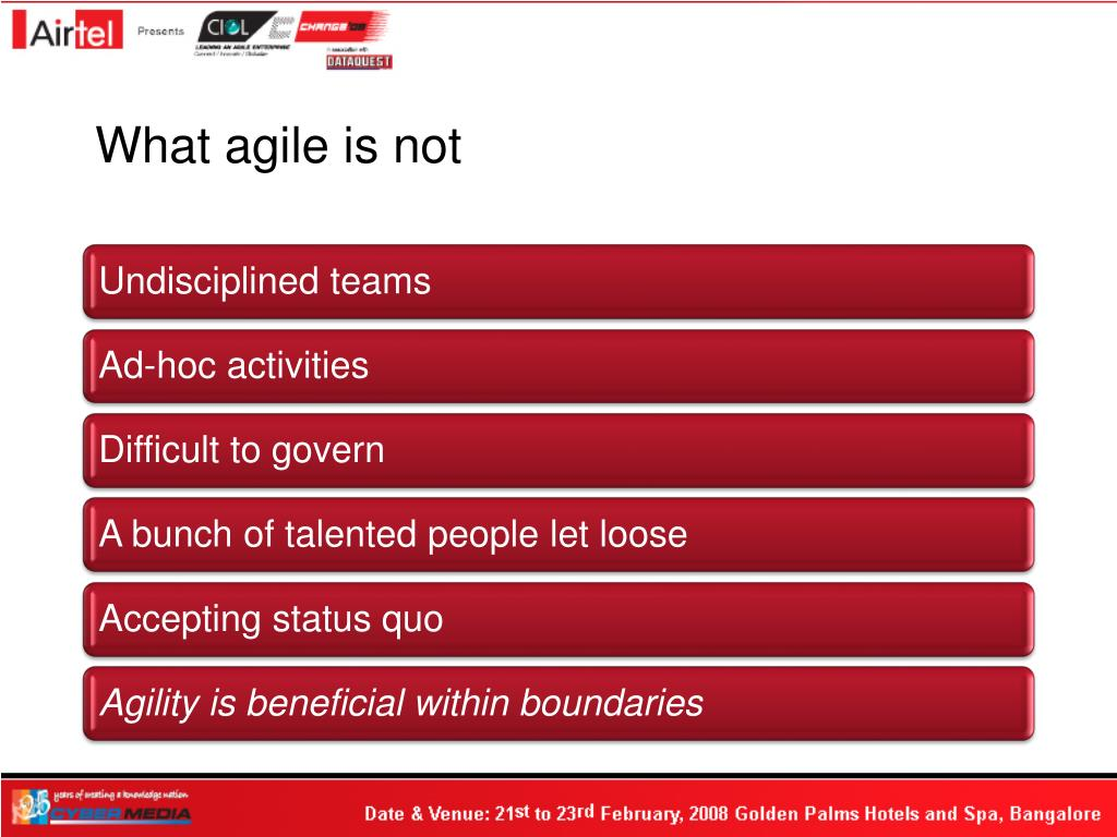 What agile is not