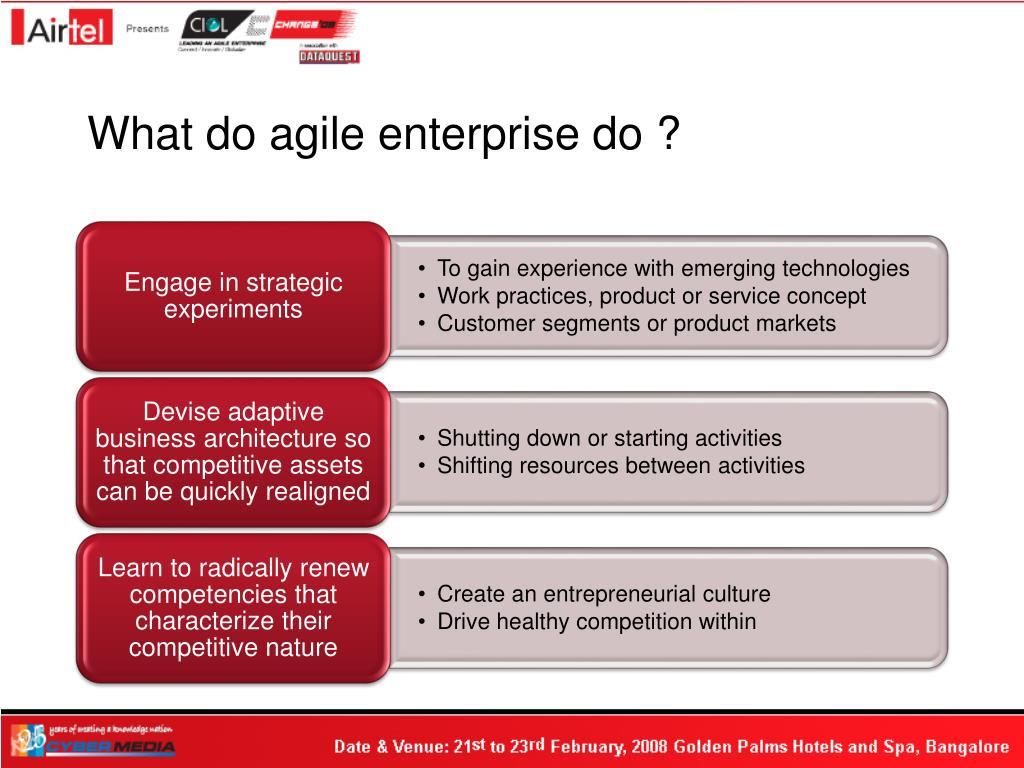 What do agile enterprise do ?