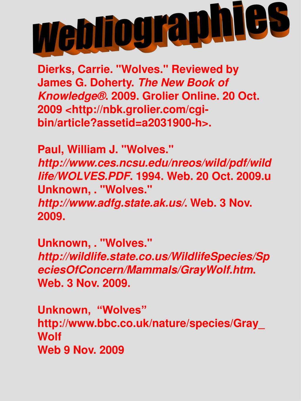 Webliographies