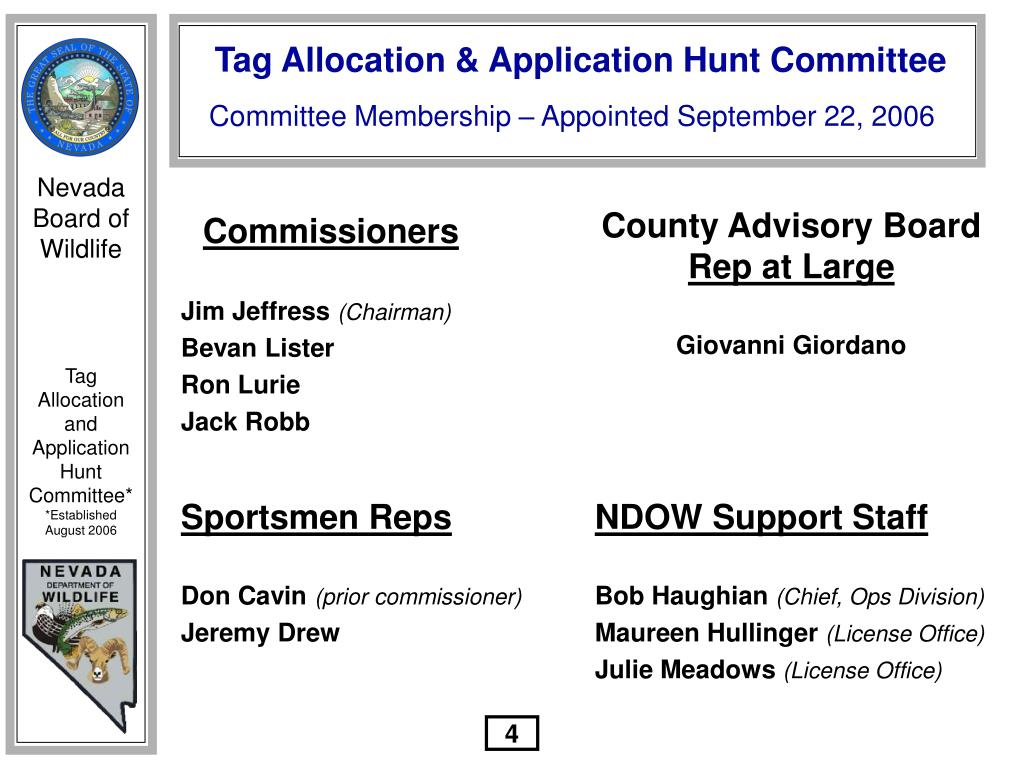 Committee Membership – Appointed September 22, 2006