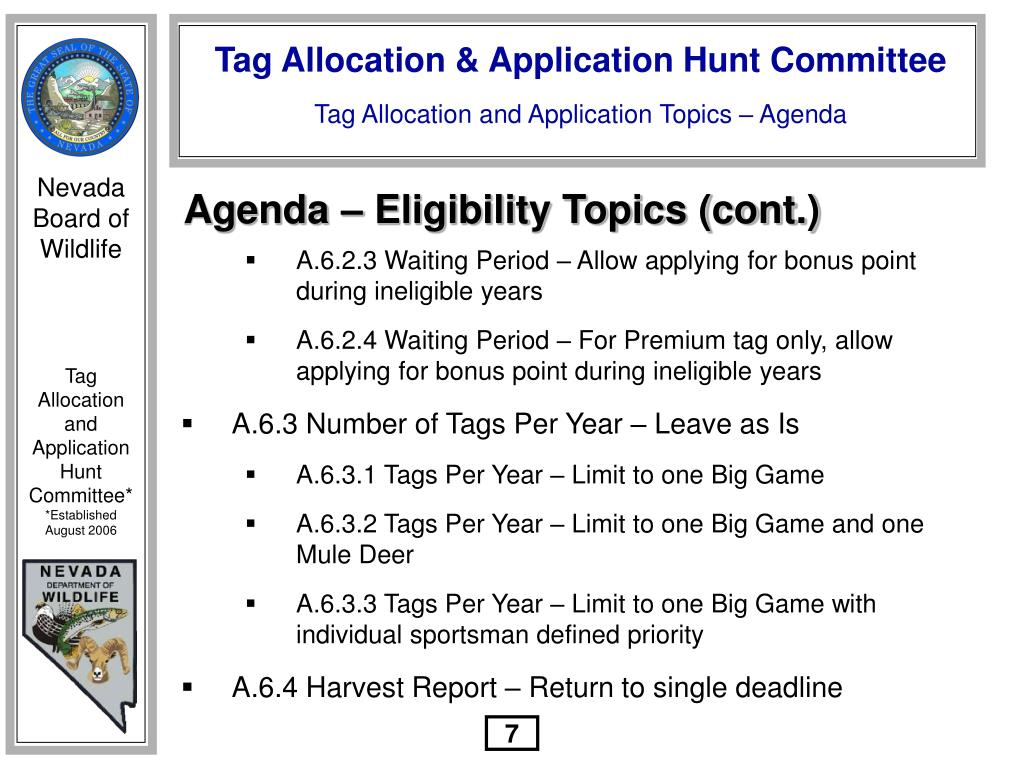 Agenda – Eligibility Topics (cont.)