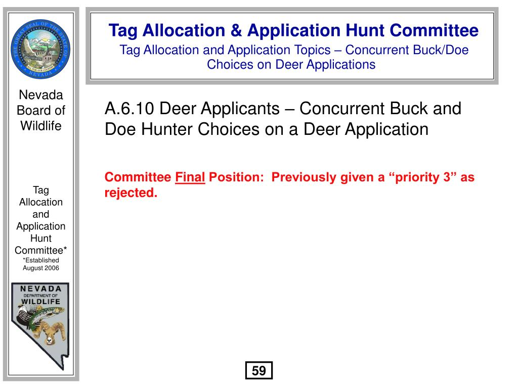 A.6.10 Deer Applicants – Concurrent Buck and Doe Hunter Choices on a Deer Application