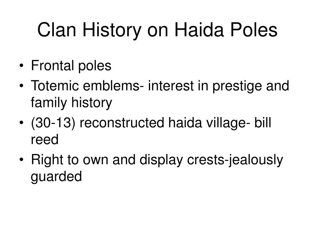 Clan History on Haida Poles