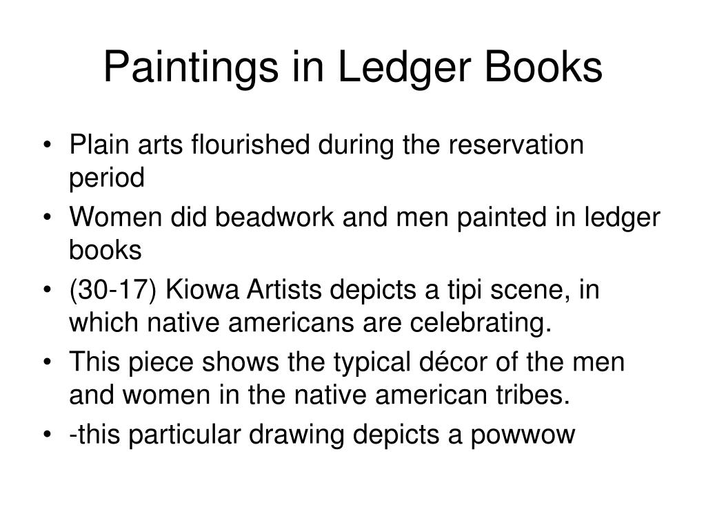 Paintings in Ledger Books