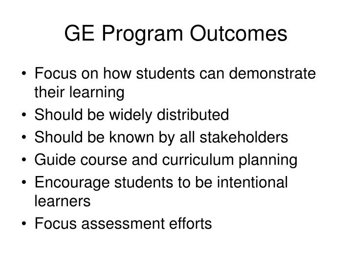 GE Program Outcomes