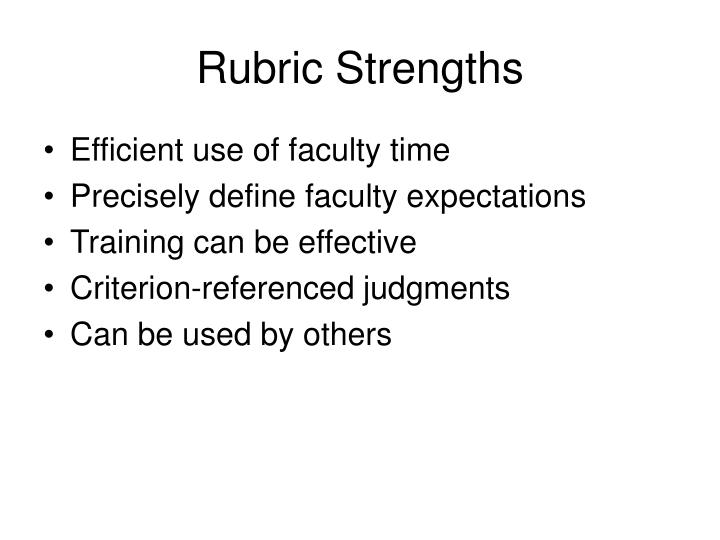 Rubric Strengths