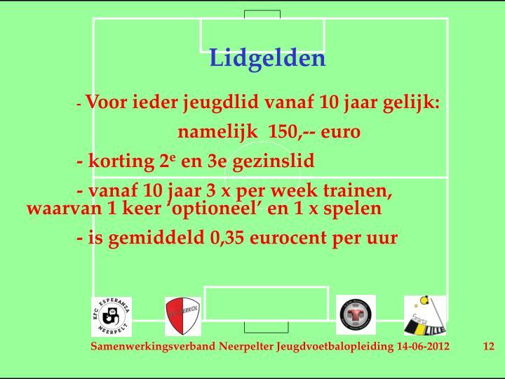 Lidgelden