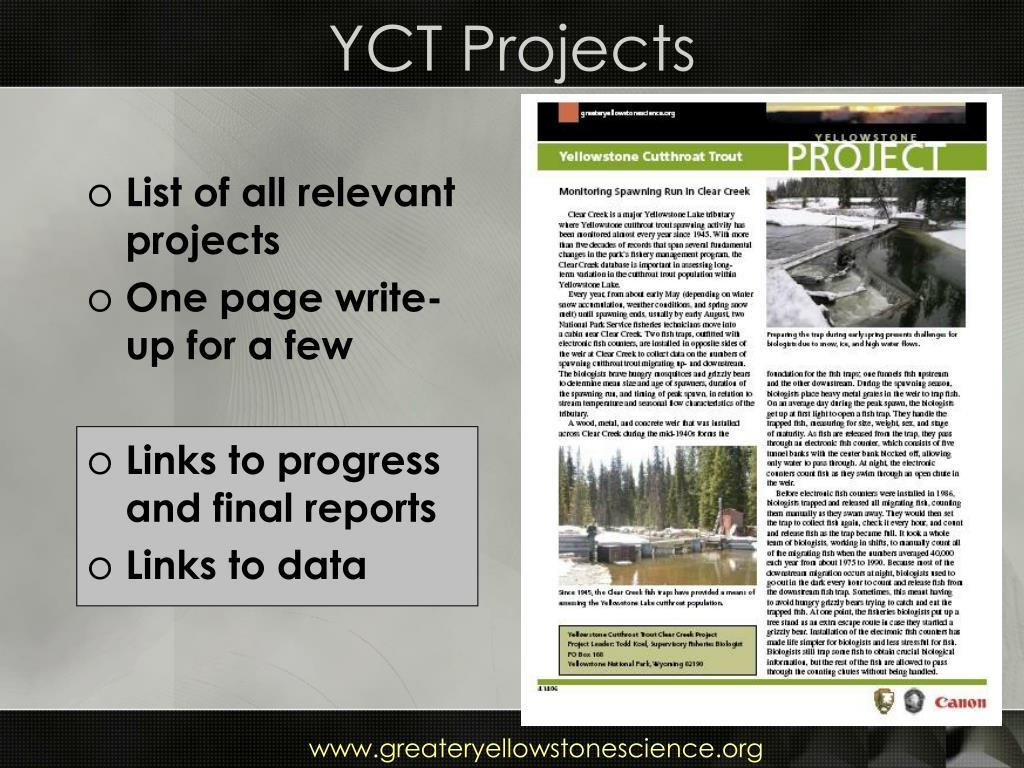 YCT Projects