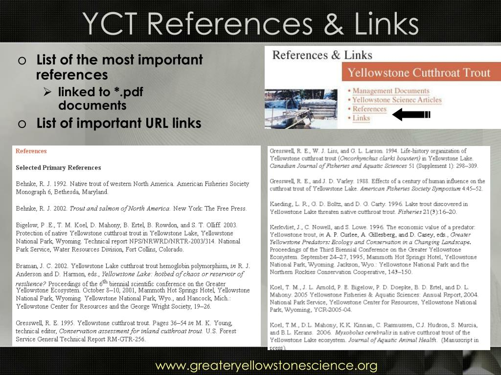 YCT References & Links