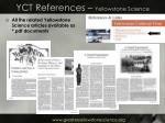 yct references yellowstone science