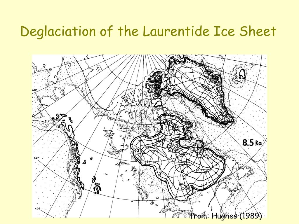 Deglaciation of the Laurentide Ice Sheet