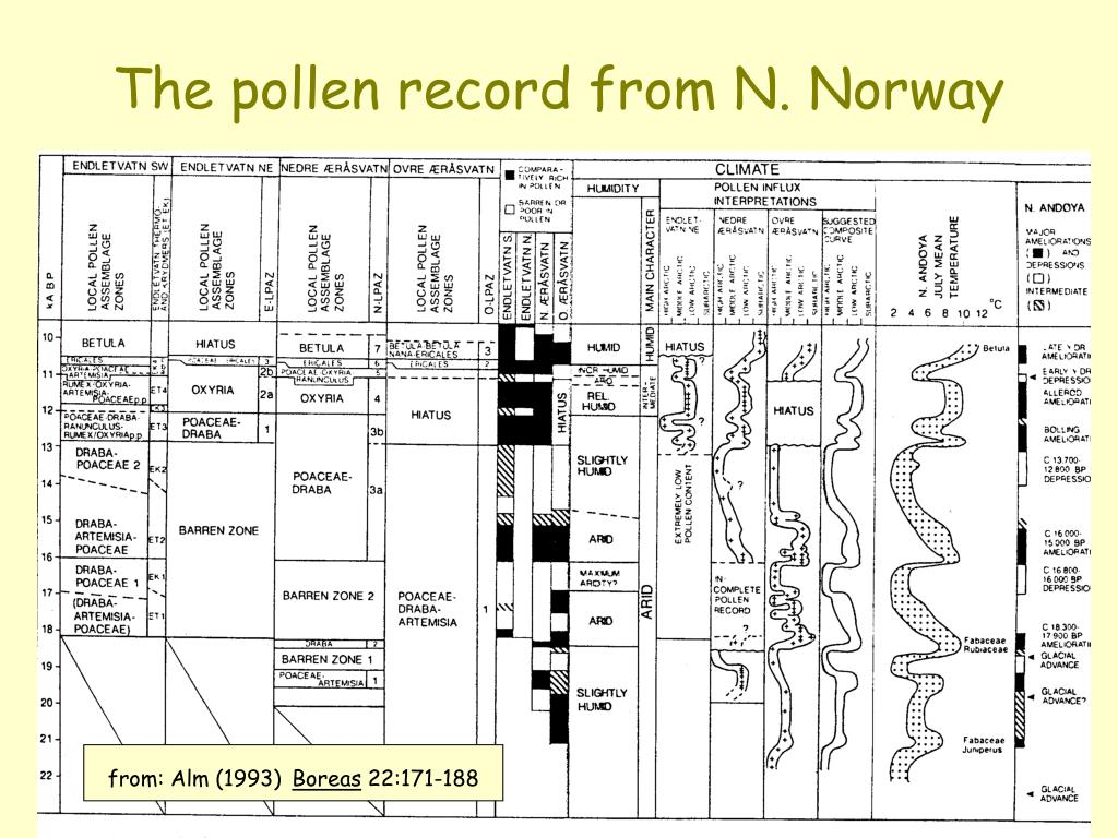The pollen record from N. Norway