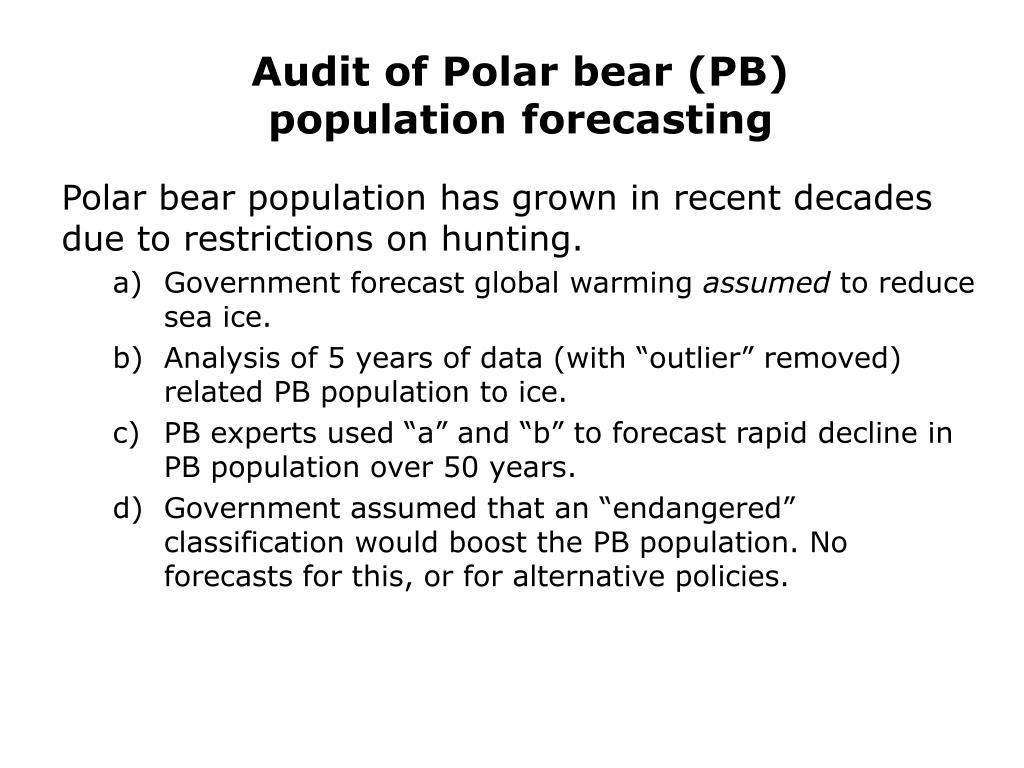 Audit of Polar bear (PB)