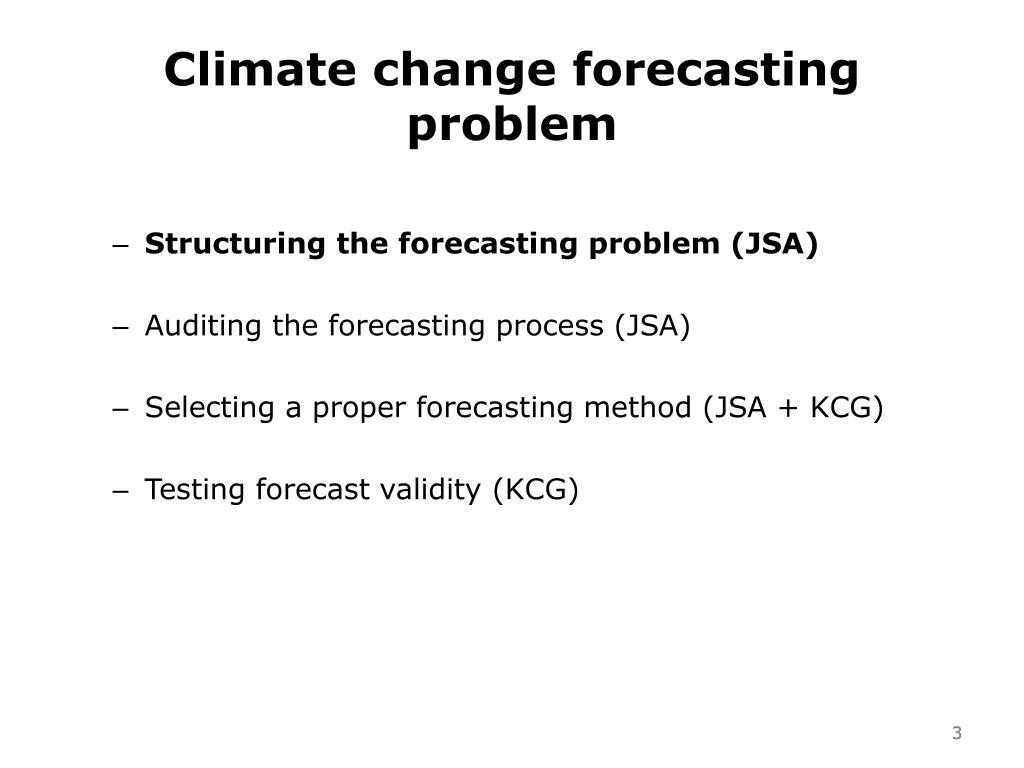 Climate change forecasting problem
