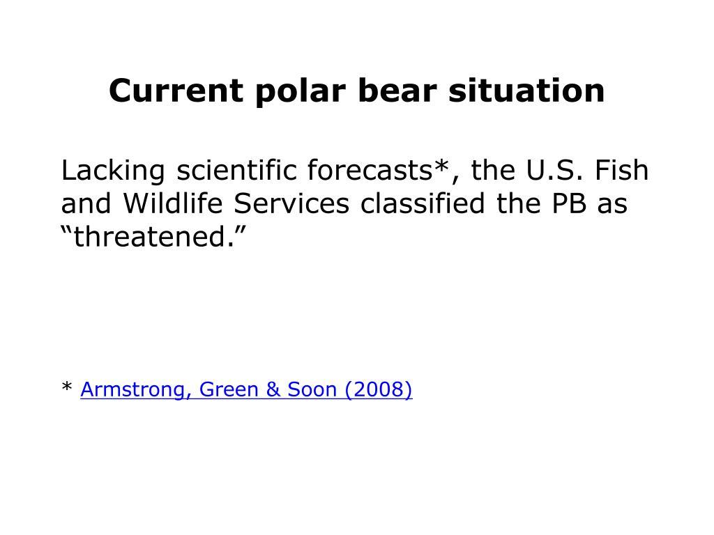 Current polar bear situation