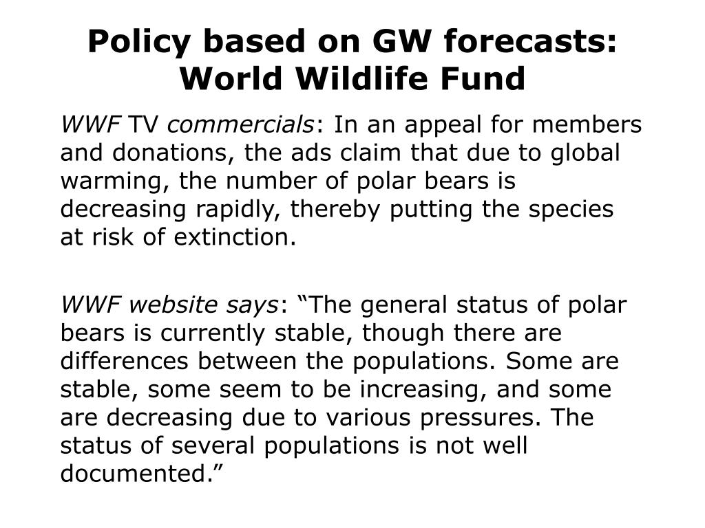Policy based on GW forecasts: