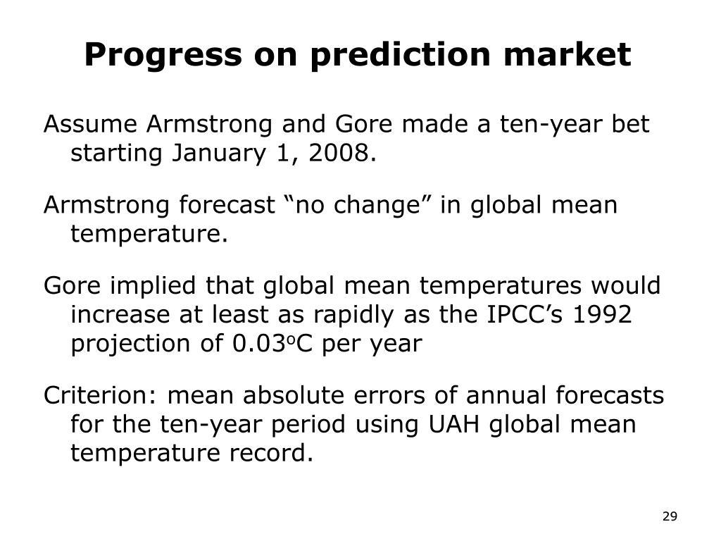Progress on prediction market
