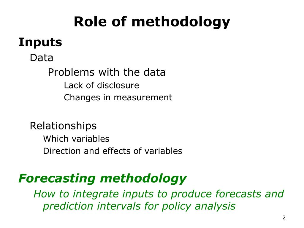 Role of methodology