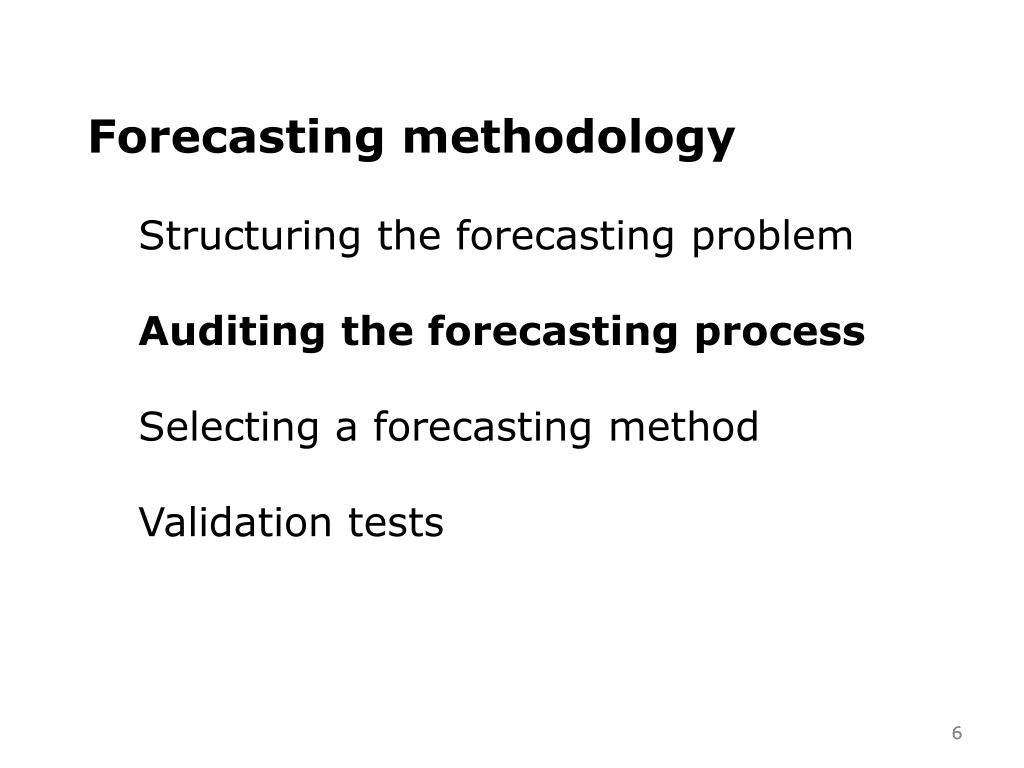 Forecasting methodology