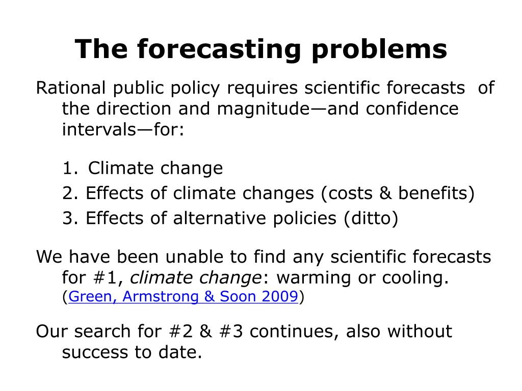 The forecasting problems