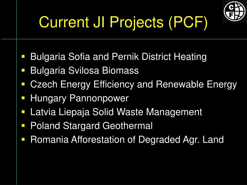 Current JI Projects (PCF)