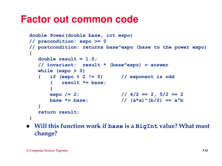 Factor out common code