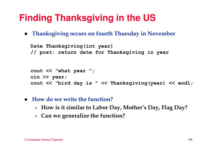 Finding Thanksgiving in the US